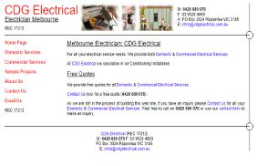 CDG Electrical: Web Site Development