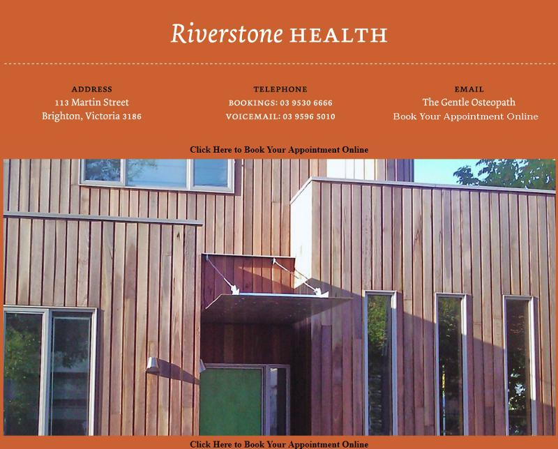 Screenshot of The Gentle Osteopath - Riverstone Health web site
