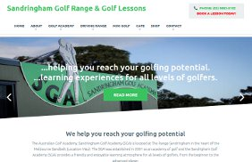 Sandringham Golf Academy: E-Commerce, Search Engine Optimisation (SEO), Adwords, Site Redevelopment (Responsive)