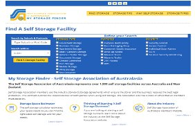 SSAA Storage Finder Web Site: Responsive Web Site Development, Secure User Access, Web Apps, SSL, Proximity Search