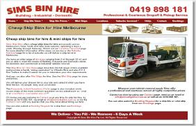 Sims Skip Bins: Web Site Development, Responsive Web Site, SEO, PPC, SSL